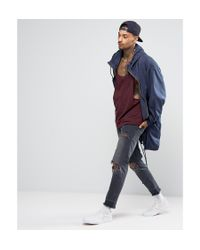 ASOS Purple Vest With Extreme Dropped Armhole And Racer Back for men