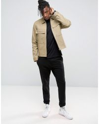 Only & Sons Natural Utility Jacket With Large Pockets for men