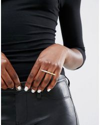 CC SKYE Metallic Stiletto Ring