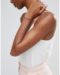 CC SKYE | Metallic Plain Nail Bracelet - Rose Gold | Lyst
