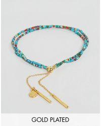 Gorjana | Metallic Gold Plated Taner Dagger Bead Bracelet | Lyst