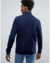 Lacoste Blue Sweatshirt With Zip Up In Navy for men