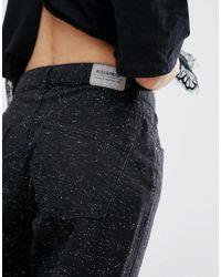 Pull&Bear - Black Speckled Mom Jean - Lyst