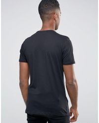 New Look T-shirt In Black With Illusion Print for men