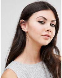 Kingsley Ryan - Metallic Sterling Silver Knot Stud & Hoop Multipack Earrings - Lyst