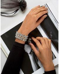 Krystal - Metallic Swarovski Statement Bracelet - Crystal - Lyst