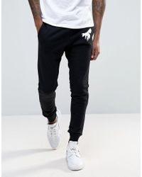 Abuze London | Black Wasp Joggers for Men | Lyst