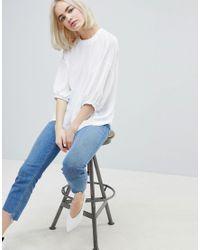 T-shirt casual en tissu ASOS en coloris White