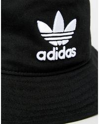 Adidas Originals – er Fischerhut mit Kleeblatt-Logo, BK7345 in Black für Herren