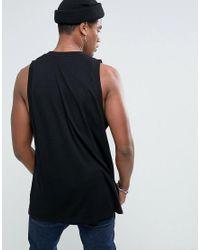 ASOS Oversized Vest In Black for men