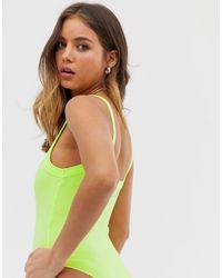 Body côtelé Pull&Bear en coloris Green