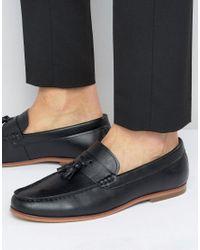 Lambretta Tassel Loafers In Black for men