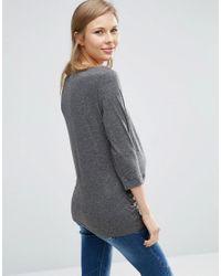 New Look Gray Long Sleeve T-shirt