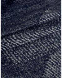 Esprit Blue Scarf In Houndstooth for men