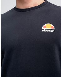 Ellesse - Black Sweatshirt With Small Logo for Men - Lyst