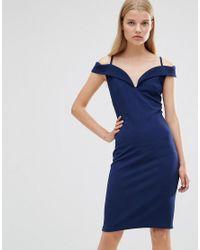 Rage | Blue Madam Cold Shoulder Dress | Lyst