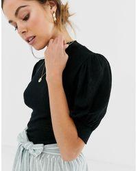 Good luck - T-shirt manches bouffantes Free People en coloris Black