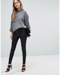 Vila Black Faux Leather Leggings