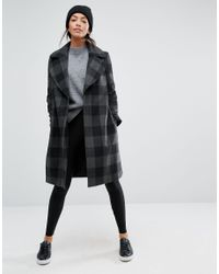 New Look Multicolor Check Smart Coat