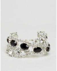 Krystal | Metallic Swarovski Statement Cross Over Bracelet | Lyst
