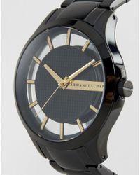 Armani Exchange Ax2192 Stainless Steel Bracelet Watch In Black for men
