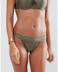 Missguided | Green Mix And Match Low Rise Hipster Bikini Pant | Lyst