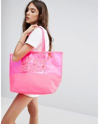 South Beach - Pink Hit The Beach Tote Bag - Lyst