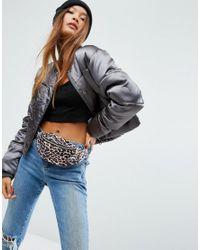 ASOS Black Lifestyle Leopard Print Bum Bag