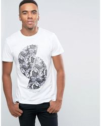 New Look T-shirt With Spiral Camo Print In White - White for men