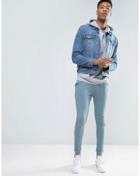 ASOS Tall Super Skinny Joggers In Blue for men