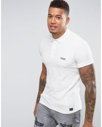 Firetrap White Oil Washed Polo Shirt for men
