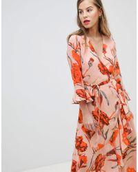6fac946bb4 Y.A.S High Neck Floral Maxi Dress - Lyst
