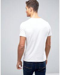Jack & Jones Jack And Jones Leopard Print Logo T-shirt In White for men