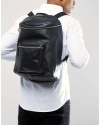 Sandqvist | Tobias Leather Backpack In Black for Men | Lyst