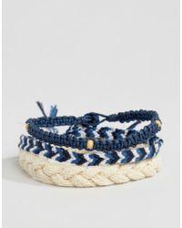 Icon Brand | Woven Bracelet Pack In Blue for Men | Lyst