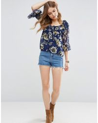 Band Of Gypsies - Blue Tiger Lily Blouse - Lyst