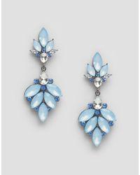 Nylon - Blue Gem Drop Earrings - Lyst