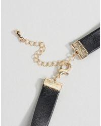 Nylon - Black Hoop Charm Choker Necklace - Lyst