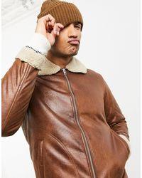 Светло-коричневая Куртка Авиатор Originals-коричневый Цвет Jack & Jones для него, цвет: Brown