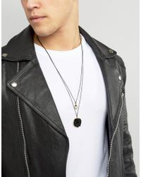 ASOS - Necklace Pack With Black Pendant for Men - Lyst