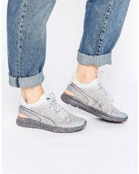 PUMA Gray Ignite Sock Woven Wn