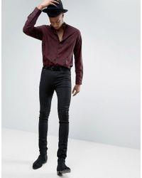 ASOS - Black Tall Regular Fit Viscose Shirt With Paisley Print for Men - Lyst