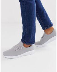 New Look – Gestrickte Sneaker in Gray für Herren