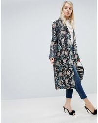 ASOS - Multicolor Asos Premium Slim Coat In Jacquard - Lyst