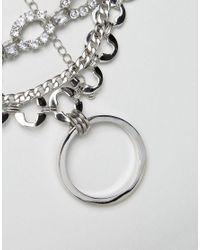 ASOS - Metallic Premium Multirow Crystal Jewel Choker Necklace - Lyst
