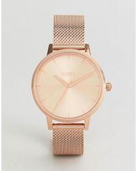 Nixon - Metallic A1229 Kensington Milanese Mesh Watch In Rose Gold - Lyst