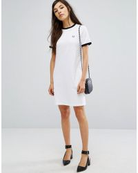 Fred Perry White Archive Ringer T-shirt Dress