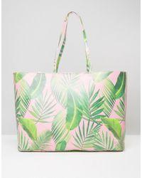ASOS | Multicolor Beach Oversized Palm Print Shopper Bag | Lyst