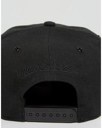 Mitchell & Ness - Black Ultimate Snapback Cap Brooklyn Nets With Textured Leather Visor for Men - Lyst