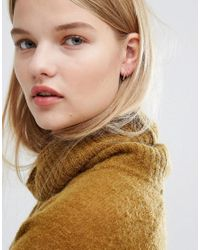 Pieces - Metallic Filipa Through & Through Earrings - Lyst